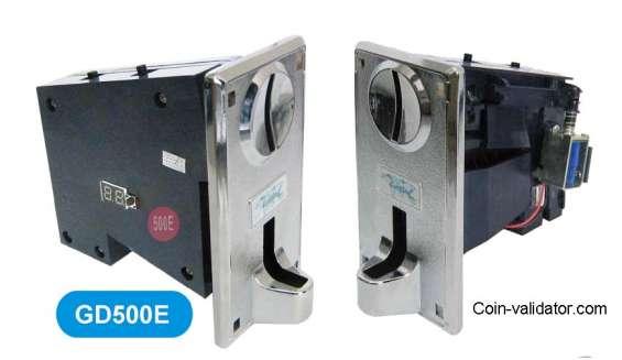 Vending machine coin selector acceptor