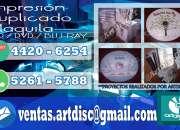 Servicios de impresion y duplicado de discos cd-dvd en toda Guatemala