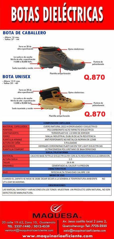 Zapatos dieléctricos colombianos