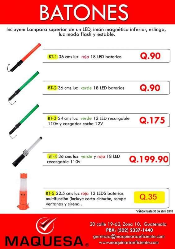 Batones para trafico a un super precio!!