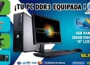 COMPUTADORAS TODO INCLUIDO MUEBLE+IMPRESORA+REGULADOR+SILLA A Q 2,390.00,