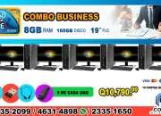 COMBOS DE 05 COMPUTADORAS HP, IDEALES PARA ACADEMIAS, COLEGIOS, INSTITUTOS, ESCUELAS CAFÉS