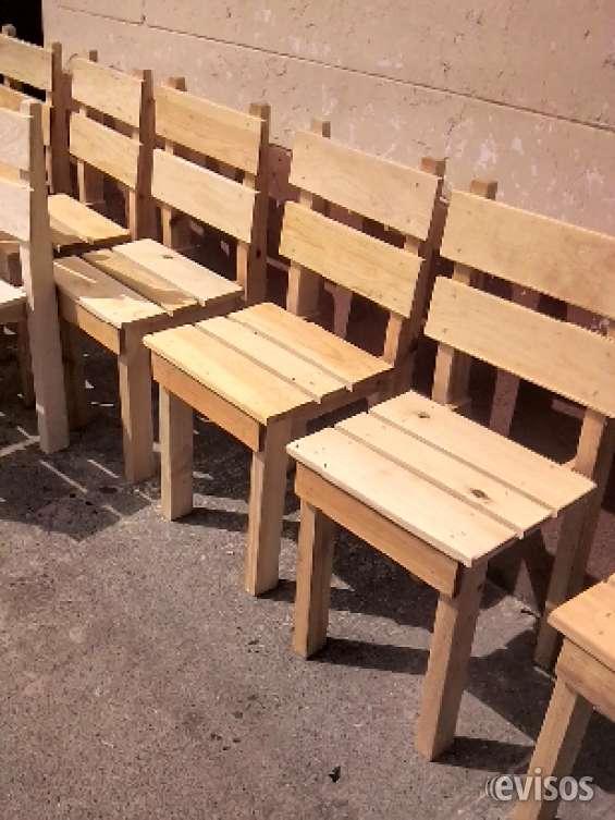Vendo sillas de madera para negocio