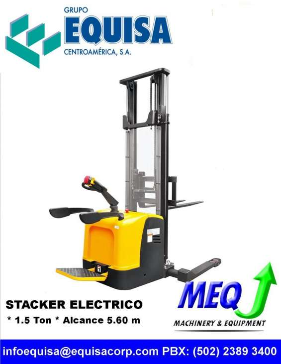 Stacker montacargas y pallets