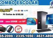 COMPUTADORAS DELL COMBO MUEBLE+IMPRESORA+REGULADOR, A Q 1,850.00