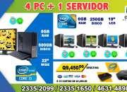COMBOS DE 05 COMPUTADORAS HP,PARA ACADEMIAS, COLEGIOS,INSTITUTOS, ESCUELAS CAFÉS INTERNET,