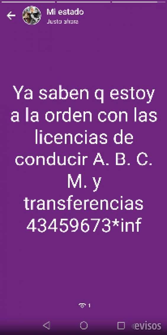 Licencia de conducir auto y moto 43459673..