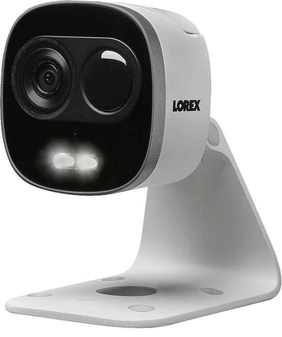 Cámara web de seguridad wifi de disuasión activa lorex 1080p con reflectores led dobles y
