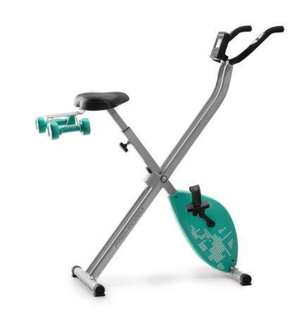 Bicicleta de ejercicio proform plegable mas 2 mancuernas de 2 libras