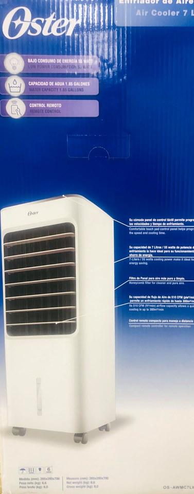 Enfriador de aire oster de 7 litros nuevo importado ideal para oficina, casa, oficina