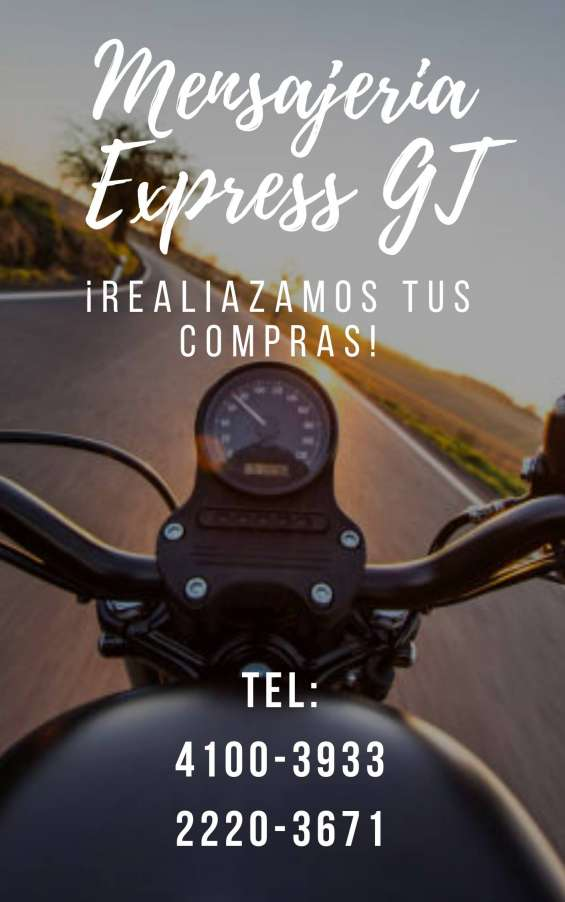 Mensajería express para toda guatemala desde q25.00