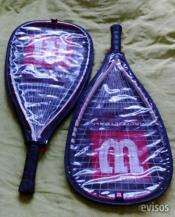 Vendo par de raquetas wilson racquetball estuche