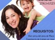 Enfermera con experiencia en niños (por mes)