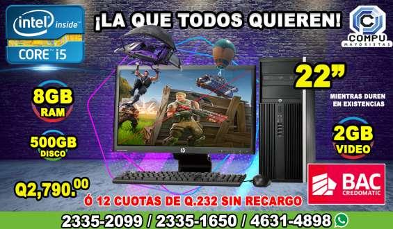 Computadoras para diseñadores, corei5, 08gb ram, 500hd, y 02gb de vídeo, 04gb de gráfico,