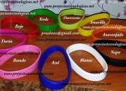 Pulseras de silicón alto/bajo relieve o impresas