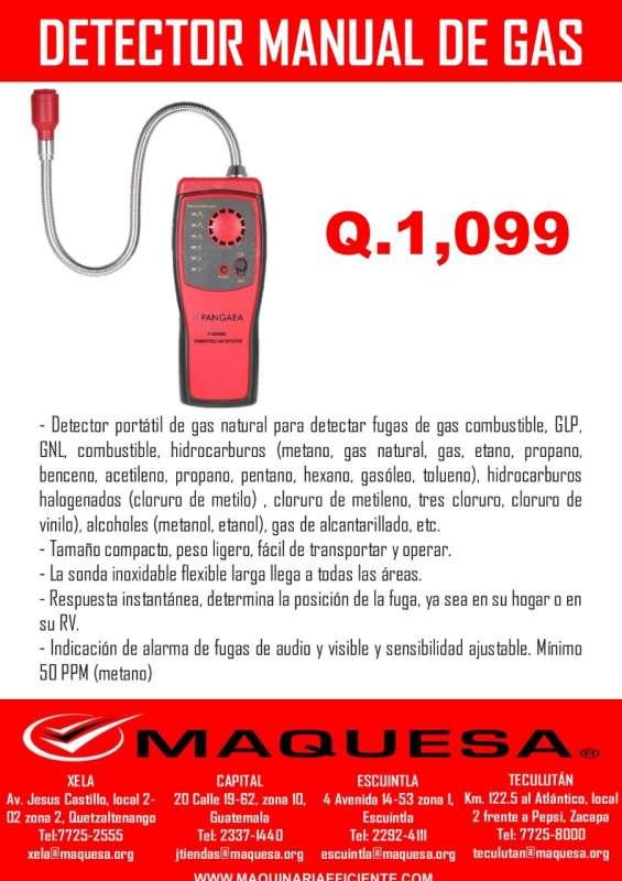 Detectores de presencia de gas