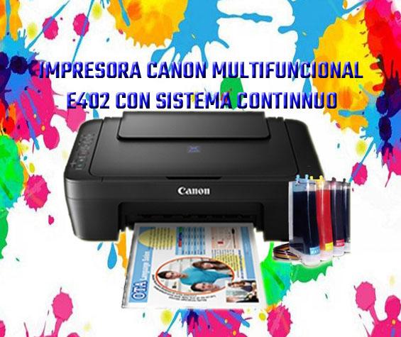 Impresora canon e402 con sistema continuo